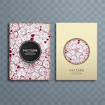 Illustration de conception brochure abstrait motifs coeurs