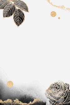 Illustration de conception de cadre floral blanc