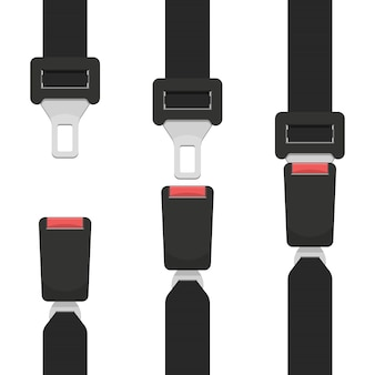 Illustration de conception de ceinture de sécurité isolé sur fond blanc