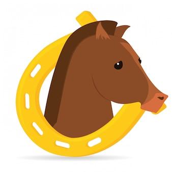 Illustration de conception de cheval