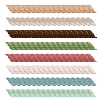 Illustration de conception de collection de corde réaliste isolé sur fond blanc