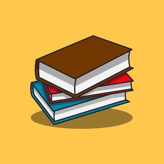 Illustration de conception de collection de livres