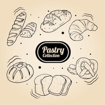 Illustration de conception de collection de pâtisserie