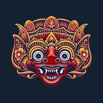 Illustration de la conception de la culture du masque indonésien
