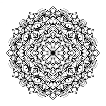 Illustration de la conception de décor art mandala.