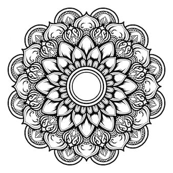 Illustration de la conception de décor art mandala.