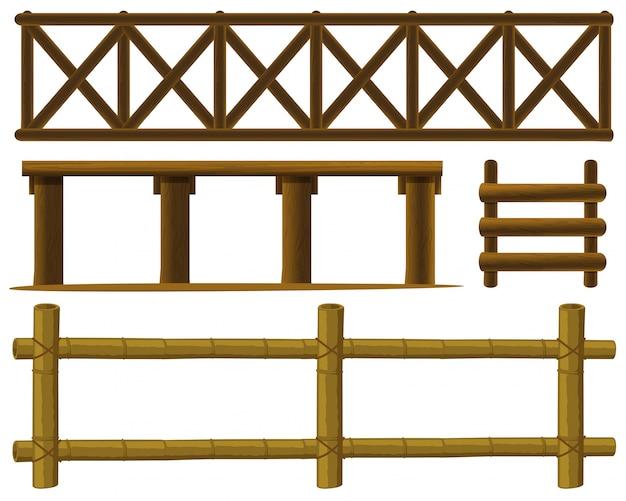 Illustration de conception différente de clôtures