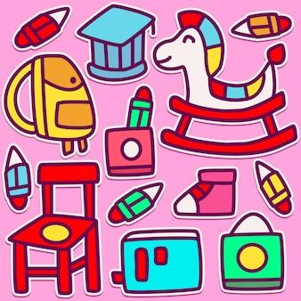 Illustration de conception de doodle mignon