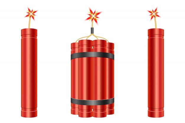 Illustration de conception de dynamite isolée