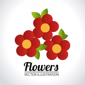 Illustration de conception de fleurs
