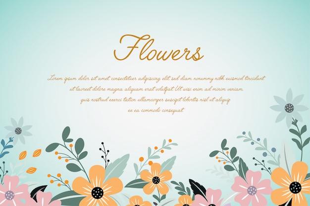 Illustration de conception florale tropicale annonce de fond fleur