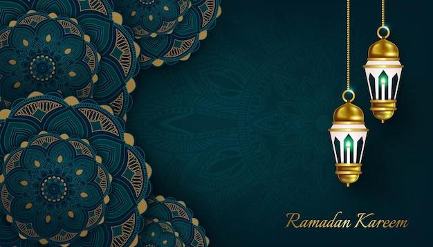 Illustration de conception de fond bannière ramadan