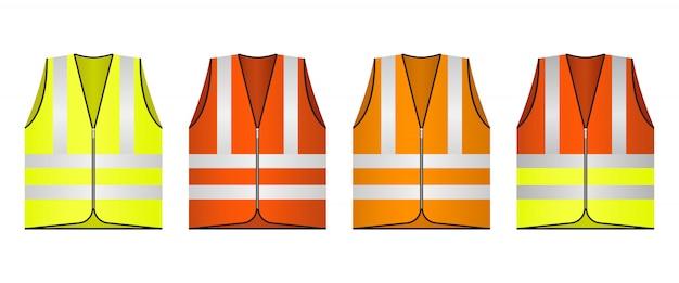 Illustration de conception de gilet de sécurité isolé
