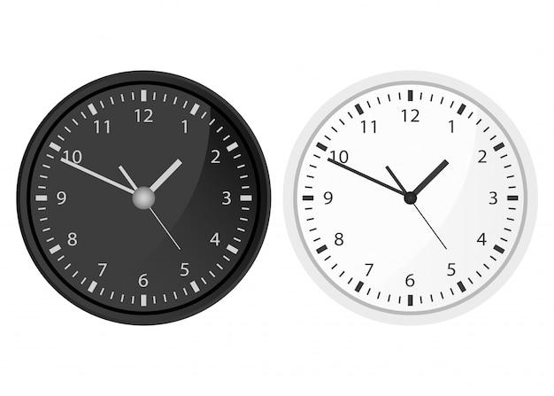 Illustration de conception d'horloge isolée sur fond