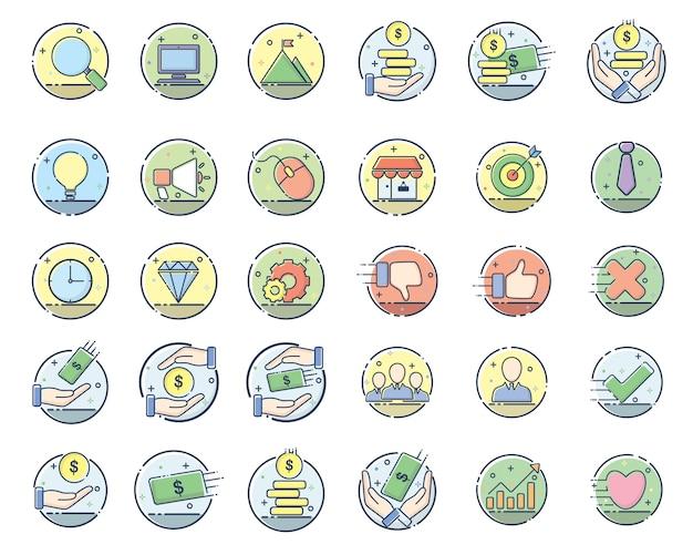 Illustration de conception d'icône affaires
