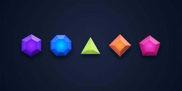 Illustration de conception d'icônes de gemme