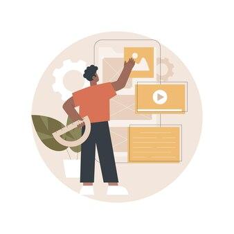Illustration de conception d'interface utilisateur et ux