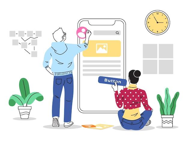 Illustration de conception d'interface utilisateur