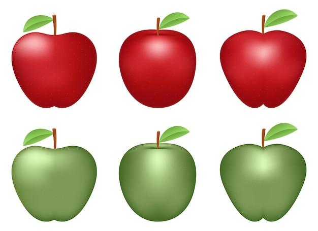 Illustration de conception de jeu de pomme fraîche isolée