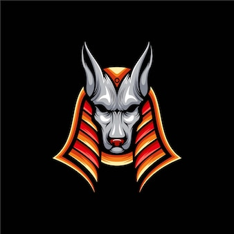 Illustration de conception de logo anubis