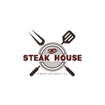 Illustration de conception de logo barbecue