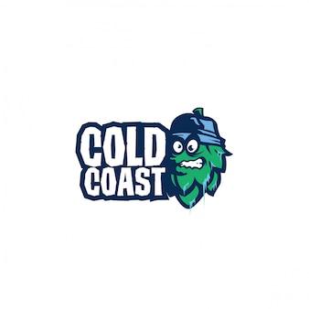 Illustration de conception de logo de bière
