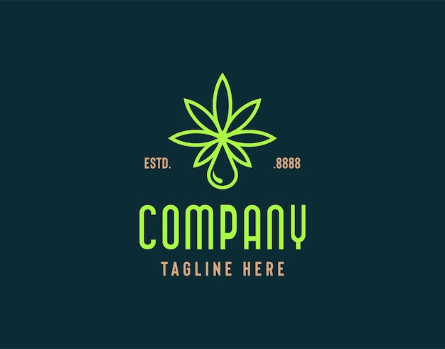Illustration de conception de logo de cannabis sain