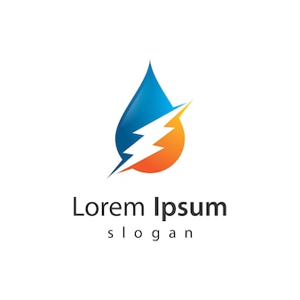 Illustration de conception de logo eau strom