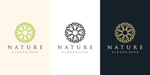 Illustration de conception de logo de fleur
