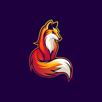 Illustration de conception de logo fox