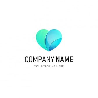 Illustration de conception de logo de foyer coloré
