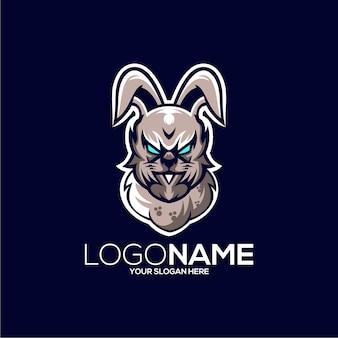 Illustration de conception de logo de lapin