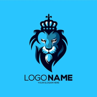 Illustration de conception de logo mascotte lion