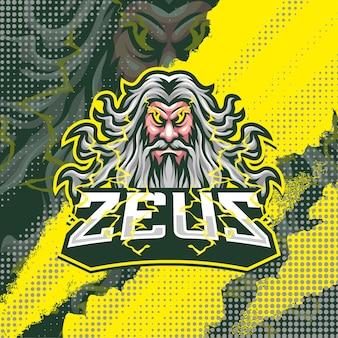 Illustration De Conception De Logo De Mascotte Zeus Vecteur Premium