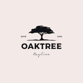 Illustration de conception de logo oaktree