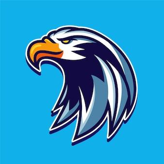 Illustration de conception de logo de personnage mascotte aigle