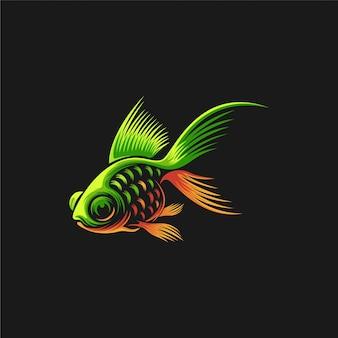 Illustration de conception de logo de poisson