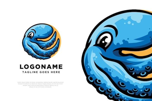 Illustration de conception de logo de poulpe