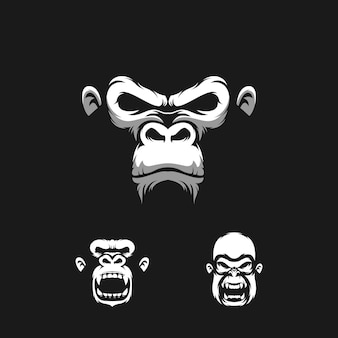 Illustration de conception de logo de singe
