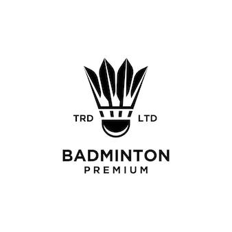 Illustration de conception de logo de volant de badminton haut de gamme