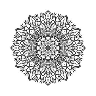 Illustration de conception de mandala traditionnel