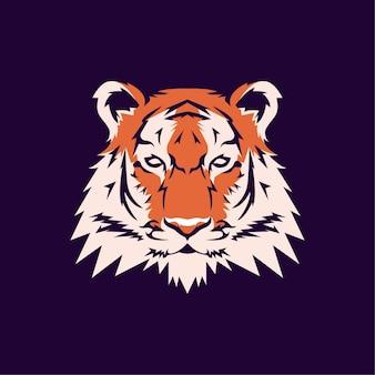 Illustration de conception de mascotte moderne tigre