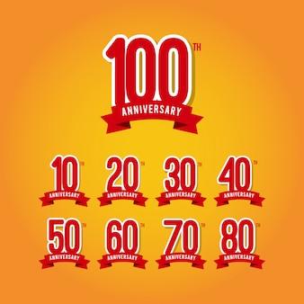 Illustration de conception de modèle anniversaire 100 ans