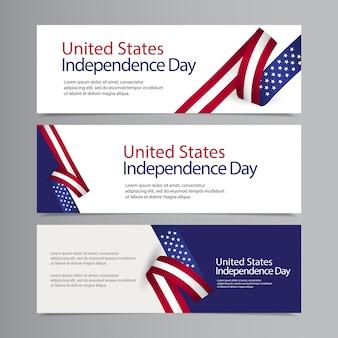Illustration de conception de modèle de célébration du jour de l'indépendance des états-unis heureux