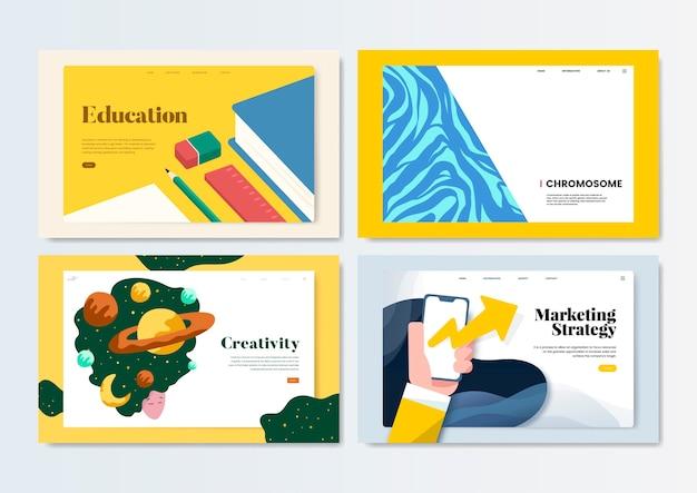 Illustration de conception de modèle flyer coloré