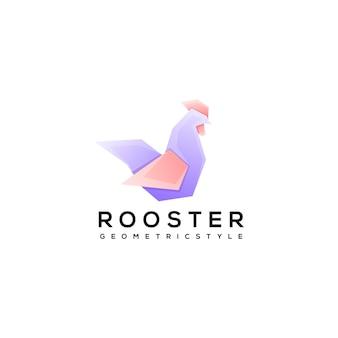 Illustration de conception de modèle de logo de coq
