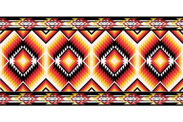 Illustration de conception de modèle sans couture orientale ethnique géométrique