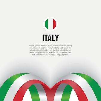 Illustration de conception de modèle de vecteur de jour de l'indépendance de l'italie
