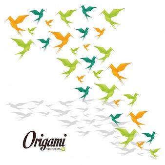Illustration de conception d'origami