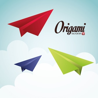 Illustration de conception d'origami